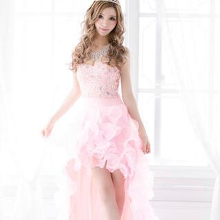 エンジェルアール(AngelR)のドレス ピンク 中ミニドレス 一条響 着用 可愛い ヒラヒラ キラキラ ビジュー(ナイトドレス)