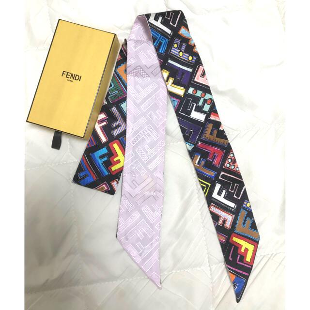 FENDI(フェンディ)のフェンディ ズッカ柄 マルチカラー ツイリー レディースのファッション小物(バンダナ/スカーフ)の商品写真