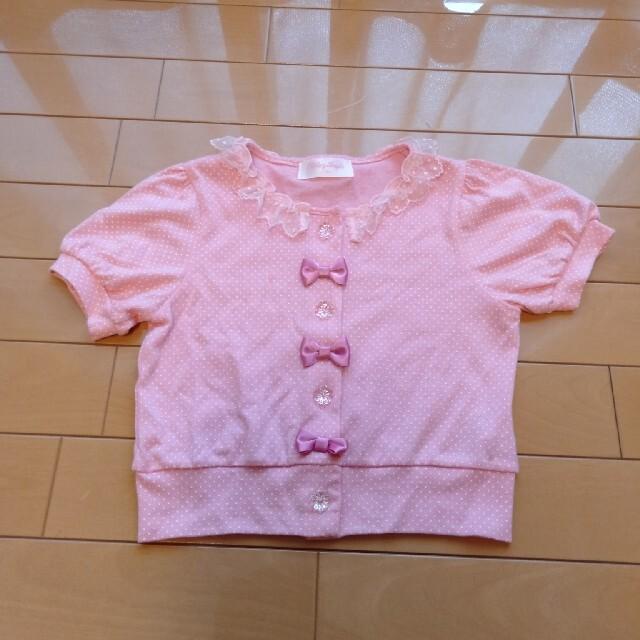 Shirley Temple(シャーリーテンプル)のシャーリーテンプル リボントップス110 キッズ/ベビー/マタニティのキッズ服女の子用(90cm~)(Tシャツ/カットソー)の商品写真