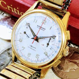 ブライトリング(BREITLING)の#1516【人気のクロノグラフ】メンズ腕時計 ワックマン 動作良好 ヴィンテージ(腕時計(アナログ))