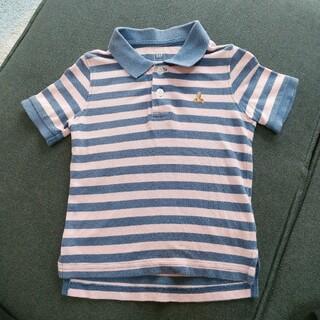 ベビーギャップ(babyGAP)のbabyGAP🐻90cm★ボーダー柄 半袖 ポロ(Tシャツ/カットソー)