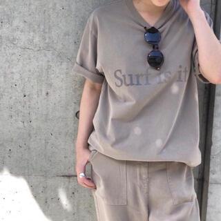 DEUXIEME CLASSE - Deuxieme Classe プリント Tシャツ surf ベージュ