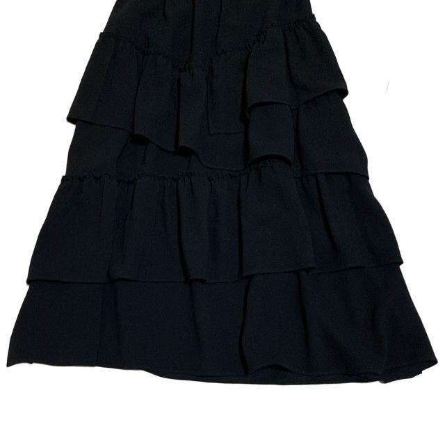 専用★20SS ボーダーズアットバルコニー ギャザー スカート フリル 黒 レディースのスカート(ロングスカート)の商品写真