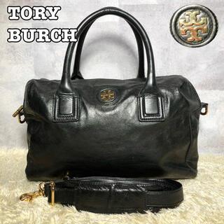 Tory Burch - 美品✨トリーバーチ ショルダーバッグ 2way A4収納可 レザー 黒 ロゴ