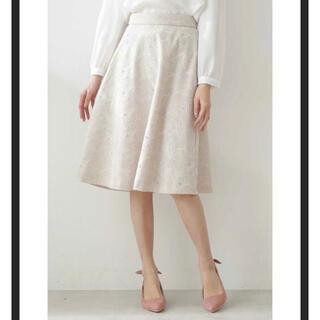 PROPORTION BODY DRESSING - プロポーションボディドレッシング  フラワーエンブロイダリーフレアスカート