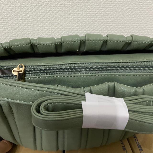 しまむら(シマムラ)のMUMU プリーツ ショルダー バッグ 中黄緑 グリーン プリーツバッグ  レディースのバッグ(ショルダーバッグ)の商品写真