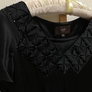 ROPE - 新品未使用♪ ROPE ロペ 100%シルク  黒 ドレス ワンピース 7号♪
