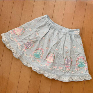 mezzo piano - メゾピアノ 水色 スカート 130cm