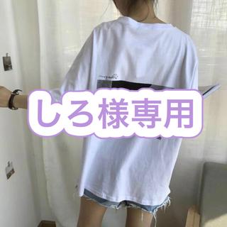 バックプリント Tシャツ 半袖 レディース オーバーサイズ 韓国 zara