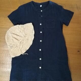 ムジルシリョウヒン(MUJI (無印良品))の無印良品 ワンピース 帽子 キッズ 女子 120(帽子)