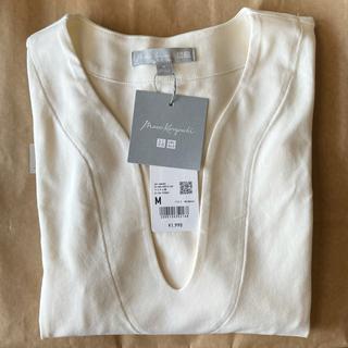 UNIQLO - ユニクロ mame Tシャツ ホワイト Mサイズ