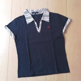 BURBERRY - BURBERRY スキッパー襟 ポロシャツ 160cm