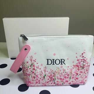 Dior - ディオール ノベルティ ポーチ 花柄 ピンクホワイト 箱あり