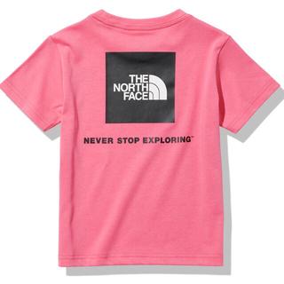 ザノースフェイス(THE NORTH FACE)の新品  ノースフェイス  スクエアロゴティー  プリムピンク  キッズ 150(Tシャツ/カットソー)