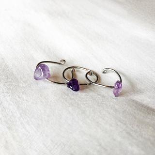 ୨୧ Vintage rétro amethyst ring