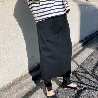 IENA SLOBE - 最新♪スローブイエナ♪ポンチレイヤードスカート♪Black
