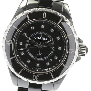 シャネル(CHANEL)のシャネル J12 12Pダイヤ H1625 クォーツ レディース 【中古】(腕時計)