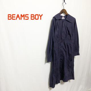 ビームスボーイ(BEAMS BOY)の【BEAMS BOY】 セーラー襟 ドットワンピース(ひざ丈ワンピース)