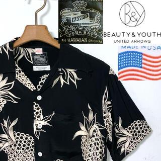 BEAUTY&YOUTH UNITED ARROWS - 希少!USA製!コナベイハワイ×BYユナイテッドアローズ 限定コラボアロハシャツ