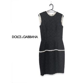 DOLCE&GABBANA - DOLCE&GABBANA ドルガバ ノースリーブ ワンピース レース