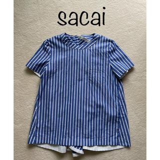 sacai - sacai サカイ 2018 ストライプブラウス 美品