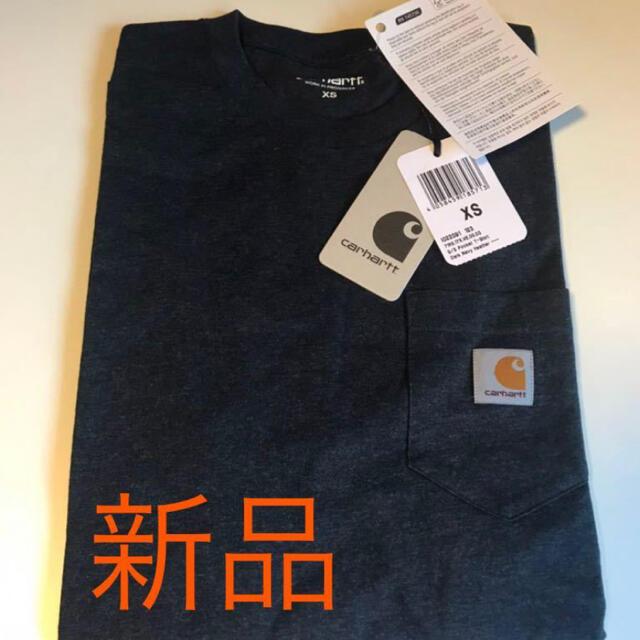 carhartt(カーハート)の【新品】Carhartt カーハート 半袖Tシャツ ポケット グレー xs メンズのトップス(Tシャツ/カットソー(半袖/袖なし))の商品写真