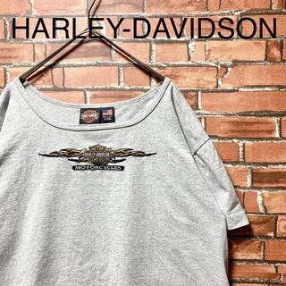 ハーレーダビッドソン(Harley Davidson)のハーレーダビッドソン tシャツ XLサイズ 半袖 バッグロゴプリント 刺繍ロゴ(Tシャツ(半袖/袖なし))