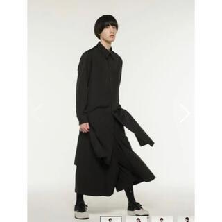 Yohji Yamamoto - Broad Regular Collar Long Shirt