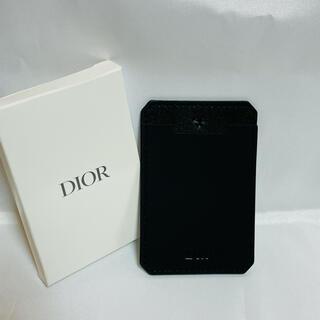 Dior - 未使用 ディオール スマホ用 背面カード入れ ポケット ブラック 黒 Dior