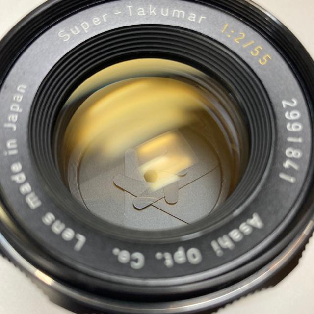 PENTAX(ペンタックス)の美品 M42銘玉 黄文字 Super-Takumar 55mm F2 純正CAP スマホ/家電/カメラのカメラ(レンズ(単焦点))の商品写真