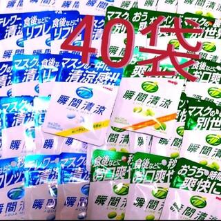 【40袋】瞬間清涼 アクアミント⑳/ライムミント⑳ 【定価5800円商品】(菓子/デザート)