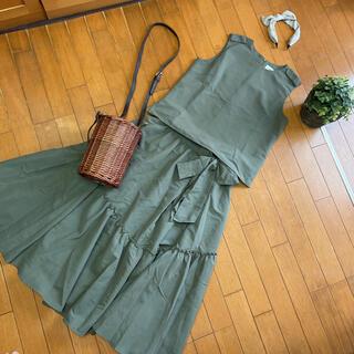 Mila Owen - 美品ミラオーウェンノースリーブセットアップワンピースティアードスカート