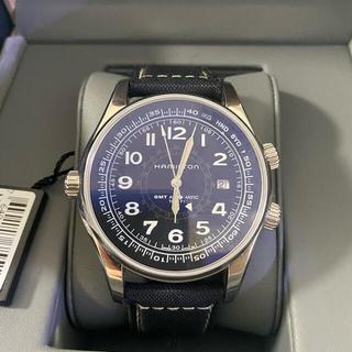 ハミルトン(Hamilton)のハミルトン HAMILTON カーキ ネイビー GMT オートH77505433(腕時計(アナログ))