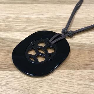 Hermes - 超美品 エルメス リフトPM バッファローホーン ネックレス ラッカー 黒