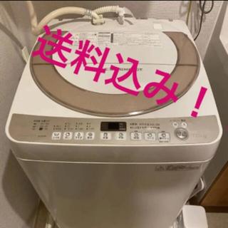 SHARP - SHARP 洗濯機 ES-KS70R-N  7.0kg 2016年製 風乾燥機能