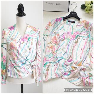 LEONARD - 美品 レオナール  LEONARD 最高級シルク シャツ ブラウス