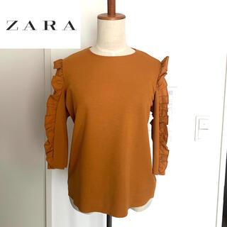 ZARA - 【タグ付き未使用】ZARA⭐️フリルカットソー 七分袖