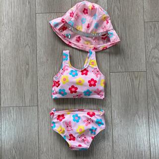 ミキハウス(mikihouse)のミキハウス 水着 90 帽子セット(水着)