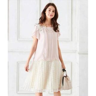 トッカ(TOCCA)の新品 トッカ ワンピース CASTRIES ドレス ピンク 白 サイズ2(ひざ丈ワンピース)