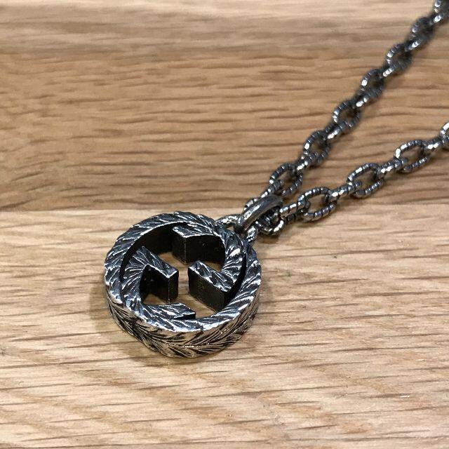 Gucci(グッチ)の超美品 グッチ 現行 インターロッキングG ペンダント ネックレス 925 メンズのアクセサリー(ネックレス)の商品写真