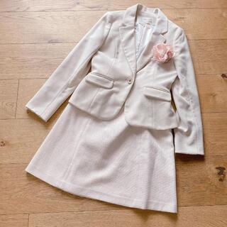 エニィスィス(anySiS)の新品 anySIS セット ジャケット スカート ベージュ サイズ2 M(スーツ)