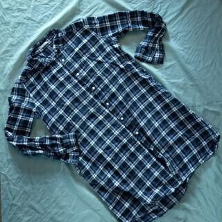 ジーユー(GU)のチェックシャツ ワンピース(ひざ丈ワンピース)