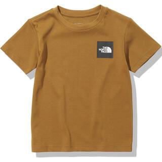 ザノースフェイス(THE NORTH FACE)の新品 ノースフェイス スモールスクエアロゴティー  ゴールデンブラウン  130(Tシャツ/カットソー)