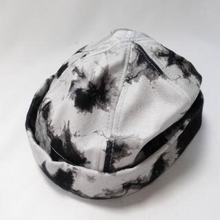 ザラ(ZARA)のZARA 帽子 メンズ ブラック/ホワイト(ハンチング/ベレー帽)
