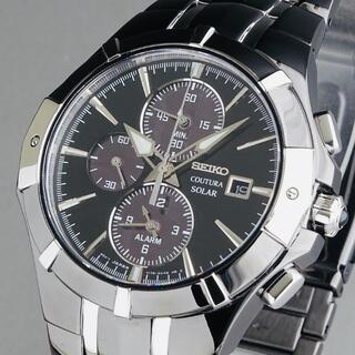 SEIKO - 【訳あり大特価】セイコー 上位機種 メンズ腕時計 コーチュラ 43mm クロノ