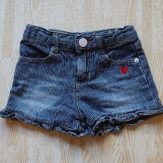 スキップランド(Skip Land)の女の子 デニムショートパンツ 90cm(パンツ/スパッツ)