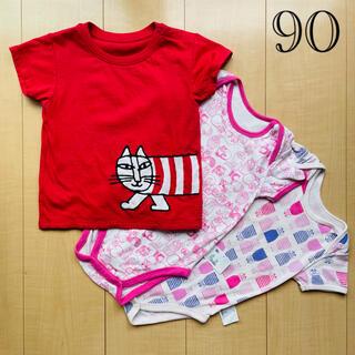リサラーソン(Lisa Larson)のリサラーソン UNIQLO 90 Tシャツ・肌着3点セット(Tシャツ/カットソー)