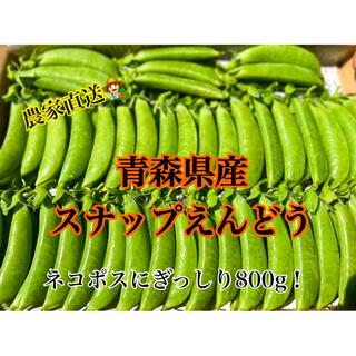 【新鮮野菜】採れたてスナップえんどう 青森県産(野菜)