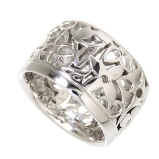 LOUIS VUITTON - ルイ・ヴィトン リング・指輪 透かし 幅広 K18WG