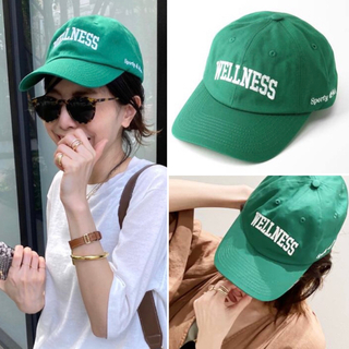 L'Appartement DEUXIEME CLASSE - 【SPORTY&RICH/スポーティアンドリッチ】CAP キャップ グリーン